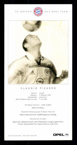 C 580 Claudio Pizarro Autogrammkarte Bayern München 2001//02 Original Signiert