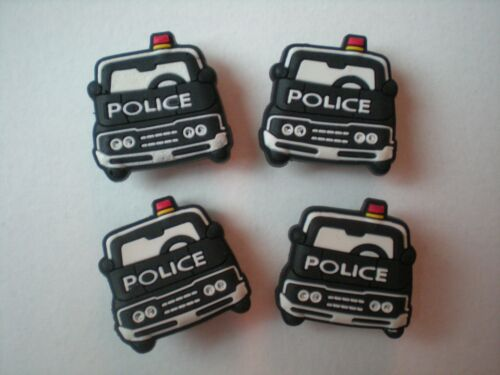 Clog Shoe Plug Button Charm Fit WristBand Fit Accessory POLICE CAR
