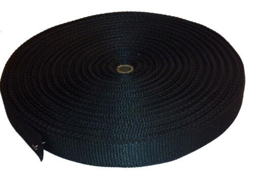 DIY tactique 5m de noir l/'OTAN mil spec 25mm Sangles NSN 8305-99-601-8506