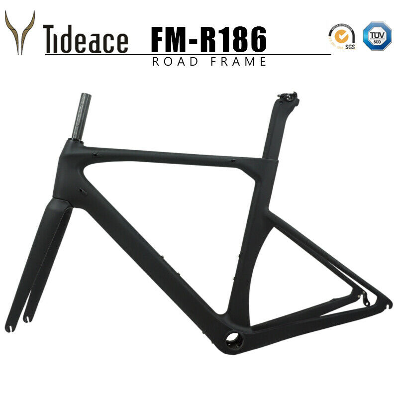 Aero Carbon Fiber Road Frame 9130mm V Brake Cycling Bicycle Frame 59cm Di2 28mm