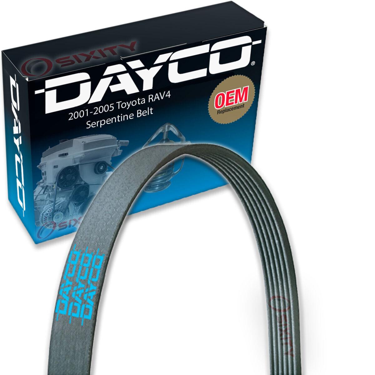 Dayco Serpentine Belt for 2001-2005 Toyota RAV4 2.0L 2.4L L4 V Belt Ribbed lb