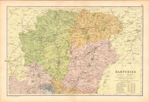 map of north hampshire 1906 Large Map Bacon Hampshire North Winchester Basingstoke map of north hampshire