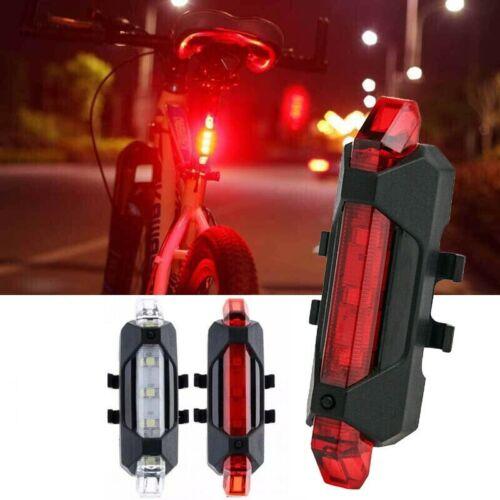 USB Rechargeable 4 Modes DEL Vélo Vélo Avant Arrière Queue Lumière Lampe DEL