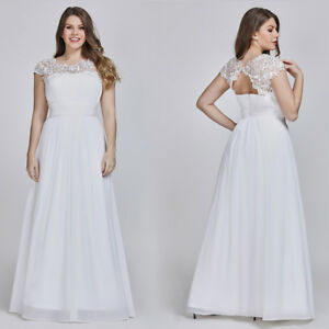 Ever-Pretty-Long-White-Bridesmaid-Formal-Evening-Party-Ball-Prom-Dress-Gown-9993