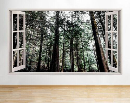 Autocollants Muraux Arbres Bois Forêt Nature Hall Fenêtre Autocollant 3D Art Vinyle Pièce D032
