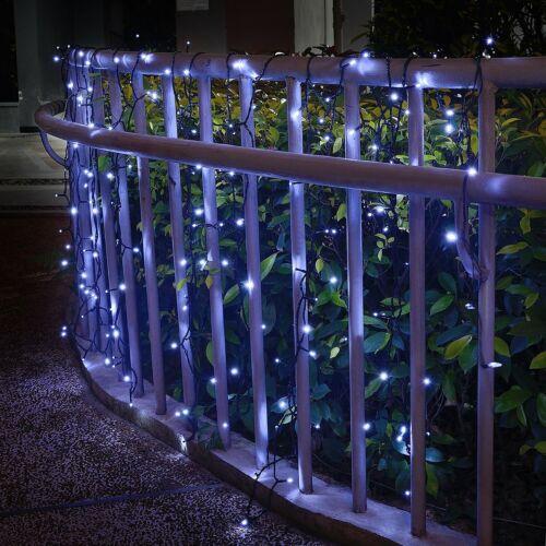 Solar Powered String Lights M5 200 LED White Mini Fairy Outdoor 72 ft 8 Modes