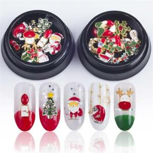 10 Pcs 3d Christmas Nail Art Decoration Alloy Jewelry Glitter
