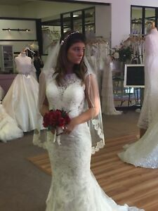 Image Is Loading Allure Bridal 9352 Wedding Gown Size 10 Unaltered