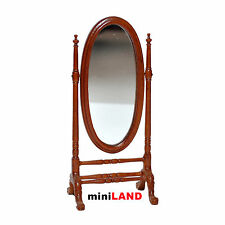 Victorian Cheval Mirror for 1:12 Scale dollhouse miniature wood bed room store
