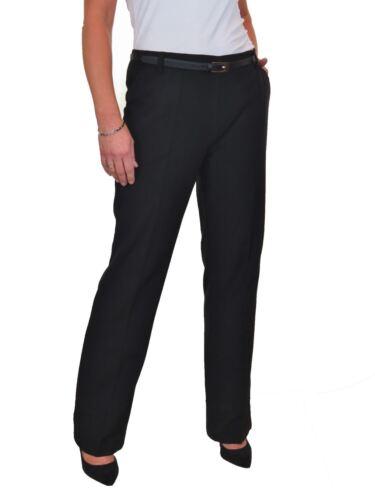 Straight Leg Boot Cut Soft Trousers FREE Belt Black NEW Size 8-22