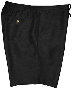 MINT-HAVANA-SHIRT-CO-BLACK-LINEN-BLEND-DRESSY-CASUAL-SHORTS-XL-waist-40-TO-42