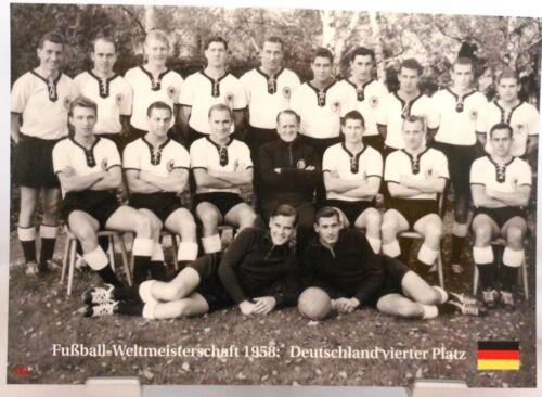 Fußball Weltmeisterschaft 1958 Deutschland 4.Platz Fan Big Card Edition A48