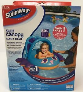 Image is loading SwimWays-Sun-Canopy-Inflatable-Baby-Boat-Step-1-  sc 1 st  eBay : inflatable baby boat with canopy - afamca.org