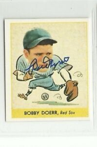 Bobby Doerr 1938 Goudey reprint signed auto autographed card Red Sox