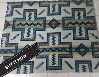 Buy It Now Pendleton Woolen Mill Blanket Wt. Remnant Wool 23 × 17 Fabric