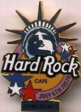 Hard Rock Cafe HONG KONG 1997 July 4th PIN Statue Liberty HRC Logo