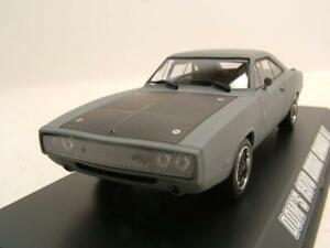 DODGE-CHARGER-R-T-1970-gris-Dom-rapido-y-furioso-Coche-Modelo-1-43