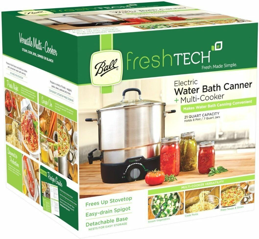Canning Pot Electric Water Bath Canner 21 Qt. Pot Vegetable Steamer Cookware