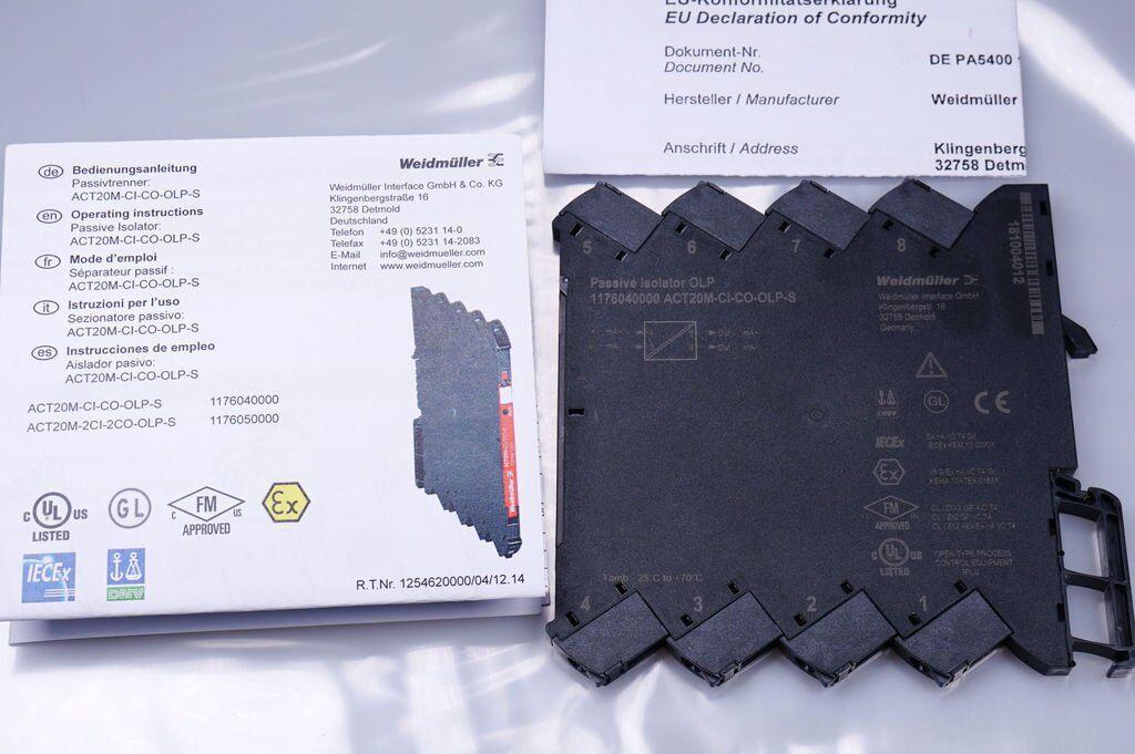 Weidmüller act20m-ci-co-olp-s act20m-ci-co-olp-s act20m-ci-co-olp-s 1176040000 Signal Convertisseur/- Séparateur Neuf a4fb0f
