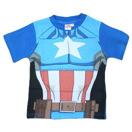 Marvel Avengers Boys Kids T-Shirt Captain America 2-7 yrs