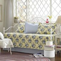 Laura Ashley 5-piece Linley Daybed Cover Set, New, Free Shipping