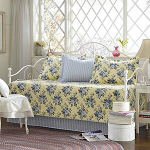 Laura-Ashley-5-Piece-Linley-Daybed-Cover-Set-New-Free-Shipping