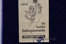 org. Gebrausanweisung für die deutsche Volksgasmaske VM 40