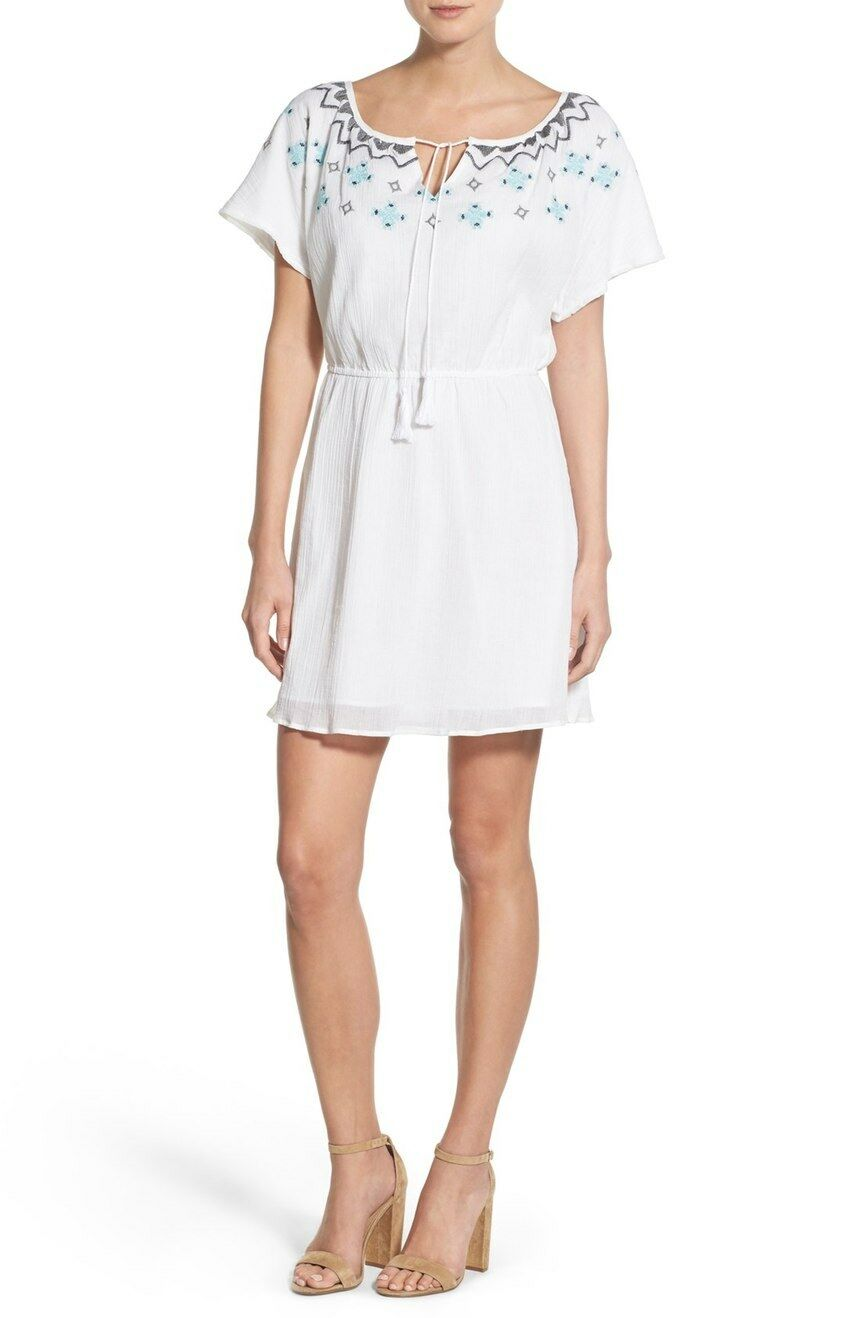 NWT-cupcakes and cashmere – 'Nona' Embroiderot Cotton Dress- Größe XS