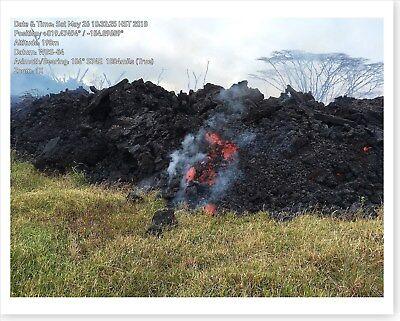 Kilauea Volcano Kapoho Crater Fissure 8 Lava Flow 2018 Silver Halide Photo