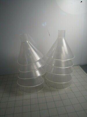 Pack of 10 Vitlab PP Powder Funnel 100mm D x 94mm L