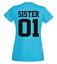 Best Friends  Partner  Freundinnen Familie Pärchen Damen T Shirt SISTER 01