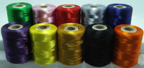 NEW 10 x EXTRA STRONG EMBROIDERY SEWING THREAD SPOOLS LARGE 800 M HEAVY DUTY