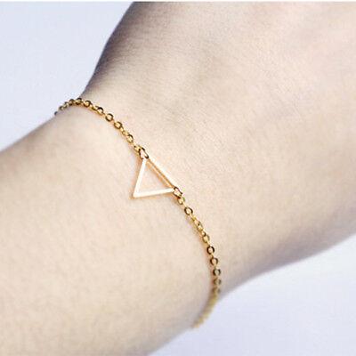 Handmade Triangle Bracelet Minimalist Simple Delicate Geometric