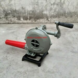 Forge-Furnace-Fan-With-Hand-Blower-Double-Ball-Bearing-Pedal-Type-Handle