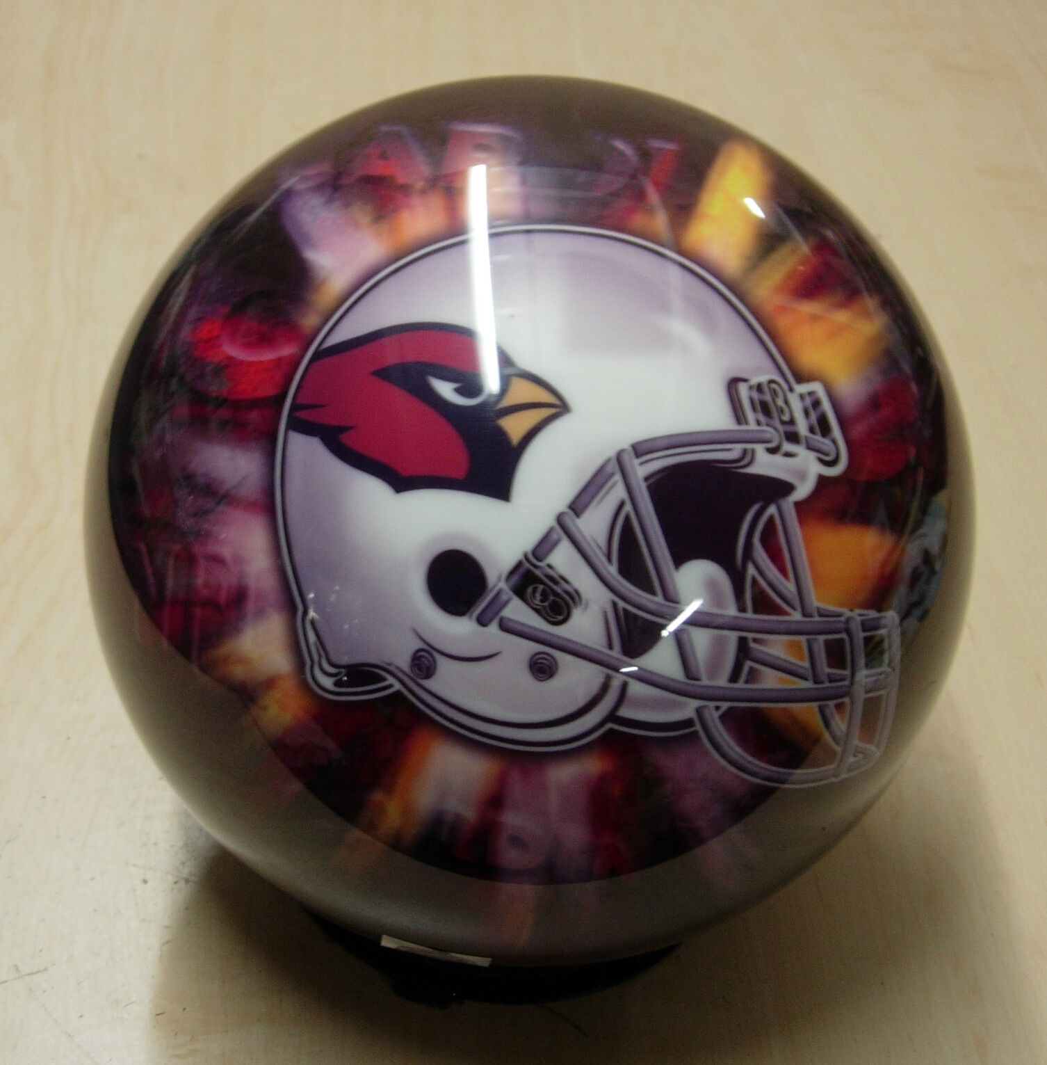 8RARE 2006 Helmet OnTheBall VIZ-A-BALL NFL ARIZONA CARDINALS Bowling Ball