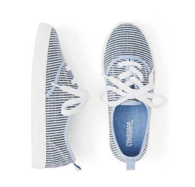 NWT Gymboree Eiffel Flowers Striped Girls Sneakers Shoes 10 11 12 13 1 2 3