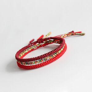 Image Is Loading Lucky Handmade Buddhist Knots Rope Bracelet Tibetan