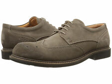 Ecco Findlay Brogue Sz US 10 M / EU 44 Dark Clay Suede Oxfords Mens Shoes
