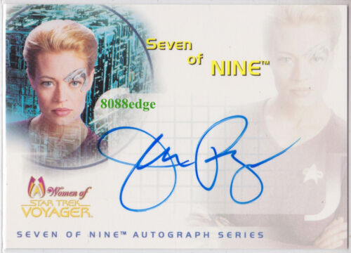 "2001 WOMEN OF STAR TREK VOYAGER AUTO JERI RYAN #SA1 AUTOGRAPH ""SEVEN OF NINE"""