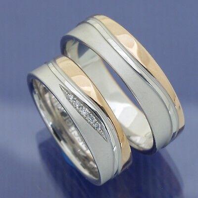 Bicolor Hochzeitsringe Eheringe Trauringe Aus Weißgold Und Rotgold Pc274728