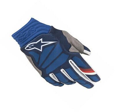 Blue, Large Alpinestars Aviator Gloves Dark Blue//White