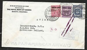 Colombia covers 1932 Airmailcover Correo Aereo MANCOMUN to Rotterdam