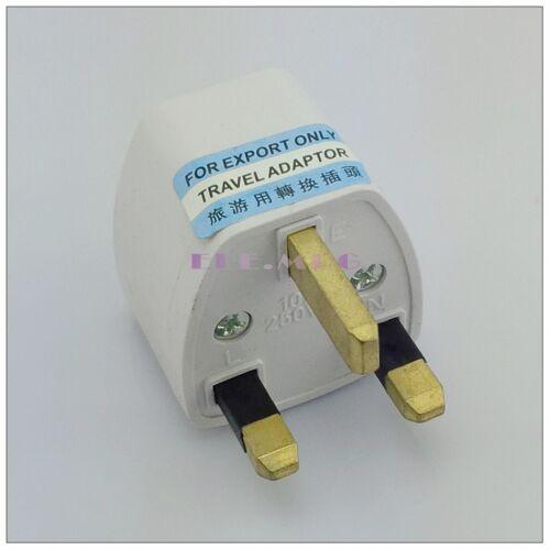1* US AU EU Universal to UK AC Adapter Power Plug Travel Outlet Converter Socket