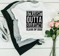 Mens Straight Outta Quarantine Short Sleeve T-shirt #4268
