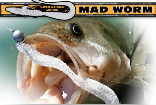 RAPTURE PRO SERIES Pazzo Worm PREDATOR esche da pesca 4 inch 10 P Bag 5 Colori