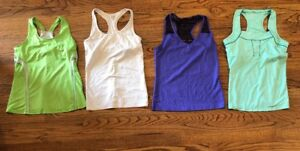 4e125bf71bb3ad Lot of 4 Womens Exercise Workout TOPS Tank Shirts Sz M Reebok ...