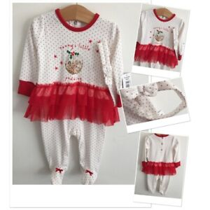 3afe5b1f5 Christmas Baby Girls New Tags Mummy's Little Pudding Outfit Headband ...