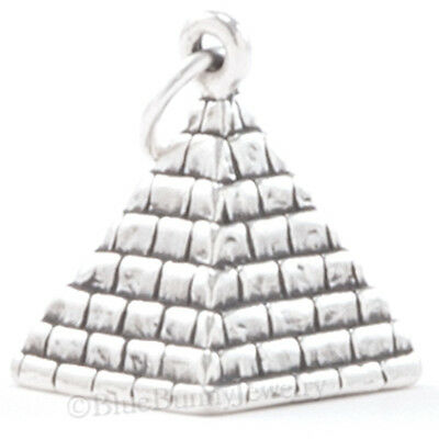 PYRAMID Egyptian Egypt TRAVEL Jewelry Pendant Charm STERLING SILVER .925 925 3D