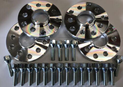 M14X1.5 SILVER BOLTS AUDI A8 TT 5X112 57.1 4 x 25mm SILVER ALLOY WHEEL SPACERS