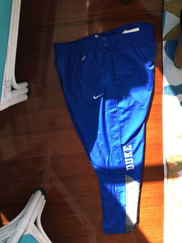 NIKE DUKE blueE DEVILS Snap Away Elite Warm Up Pant, Royal, Polyester, MSRP- 75